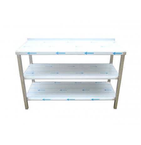 Pracovní nerezový stůl s policí (2x police), rozměr 1000 x 700 x 900 mm