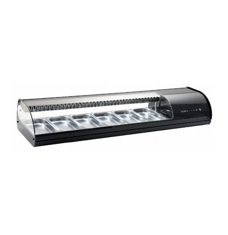 Stolní chlazená vitrína VS8xP - černá, červená, stříbrná, ebenová, bílá