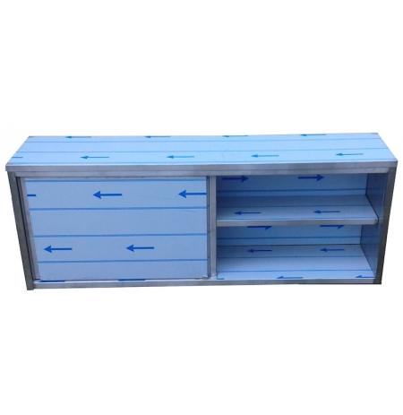 Závěsná skříňka nerezová uzavřená s posuvnými dvířky, rozměr (d x h x v): 1500 x 300 x 600 mm