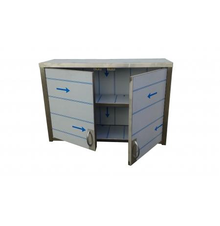 Závěsná nerezová skříňka uzavřená - pantová dvířka, rozměr (d x h x v): 800 x 300 x 600 mm