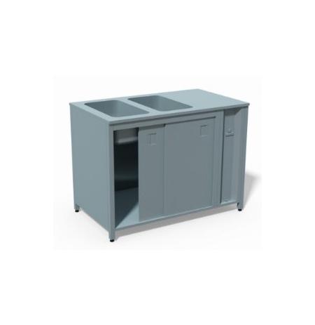 T04 Ohřívací stůl režon s vyhřívanou vodní lázní pro 4 GN 1/1 1500 x 700 x 900 mm