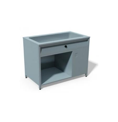T05 Ohřívací stůl režon s vyhřívanou vodní lázní pro 2 GN 1/1 1200 x 700 x 900 mm