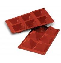 Forma silikonová skup.6x Pyramida, 71x71 mm