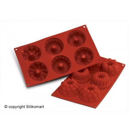 Forma silikonová skup.6x Bábovka Fantasy, 3 druhy