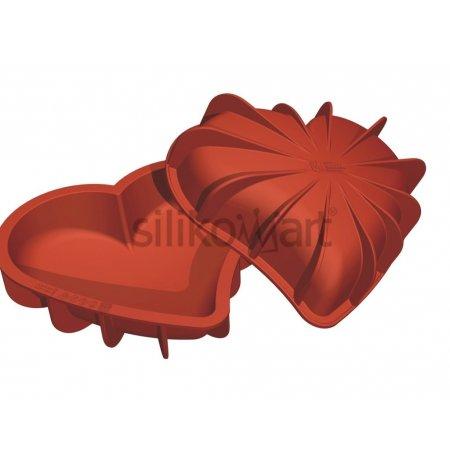 Forma silikonová uniflex plastické Srdce 3D