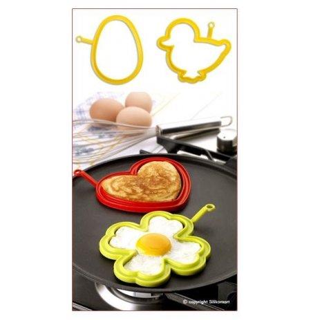 Forma na vajíčka silikonová sada 2 ks, Vejce a House