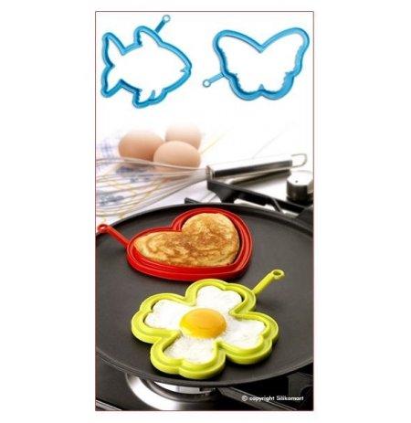 Forma na vajíčka silikonová sada 2 ks, Ryba a Motýl