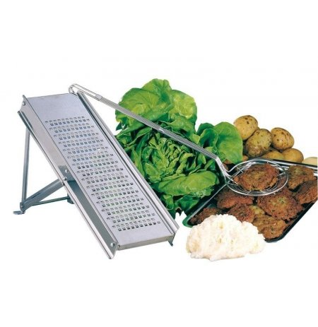 Struhadlo na brambory a zeleninu nerezový, skládací podstavec