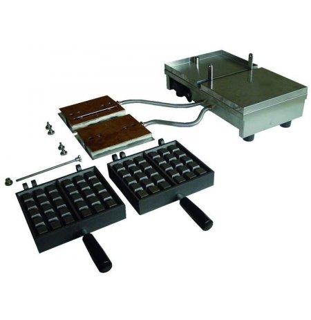 Vaflovač jednoduchý elektrický, Brusel 4x6, sklopný 90°, EasyClean