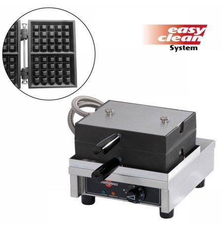 Vaflovač jednoduchý elektrický, Lutych 4x5, sklopný 90°, EasyClean