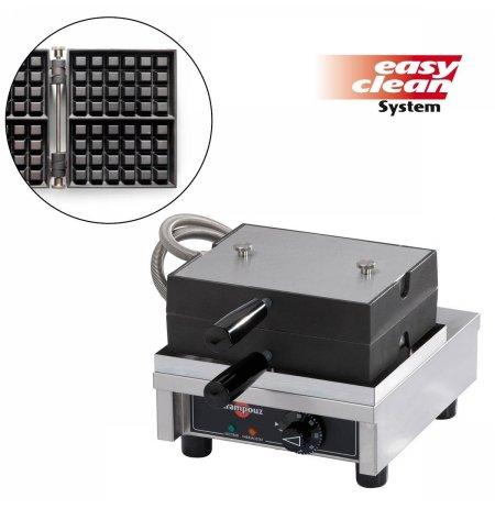 Vaflovač jednoduchý elektrický, Lutych 4x6, sklopný 90°, EasyClean