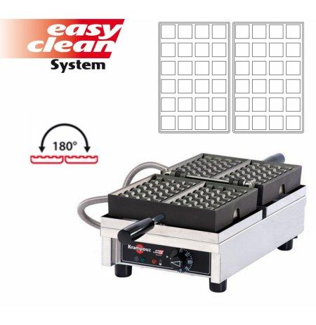Vaflovač jednoduchý elektrický, Brusel 4x6, sklopný 180°, madlo I, EasyClean, KRAMPOUZ