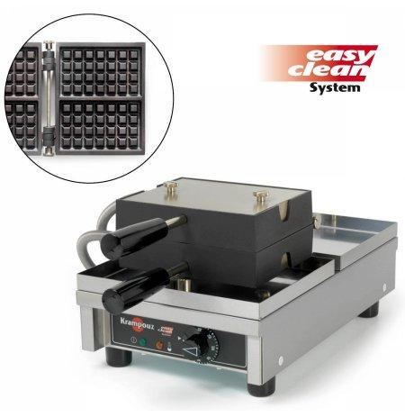 Vaflovač jednoduchý elektrický, Brusel 4x7, sklopný 180°, madlo I, EasyClean