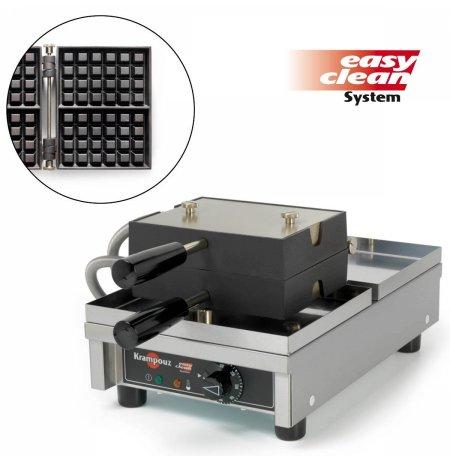 Vaflovač jednoduchý elektrický, Lutych 4x6, sklopný 180°, madlo I, EasyClean, KRAMPOUZ