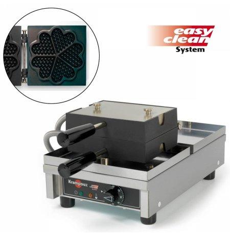 Vaflovač jednoduchý elektrický, Srdce, sklopný 180°, madlo I, EasyClean, KRAMPOUZ