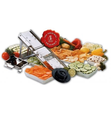 Kráječ zeleniny Mandolína nerez, profi, sklopný podstavec,3+7mm