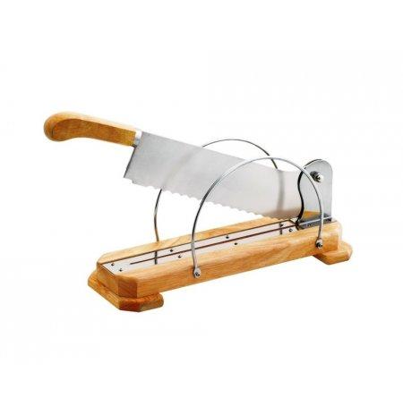 Kráječ pečiva stolní, dřevěná základna, 35 cm
