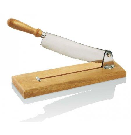 Kráječ pečiva stolní Ekonomik, dřevěná základna, 25 cm