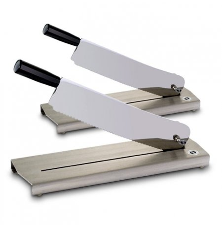 Kráječ pečiva stolní, nerezová základna, 25 cm