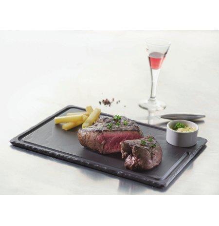 Deska břidlicová na steaky s drážkou, 330x240 mm