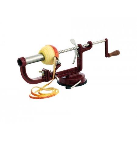Loupač jablek ruční domácí 4v1, vínový, přísavné uchycení