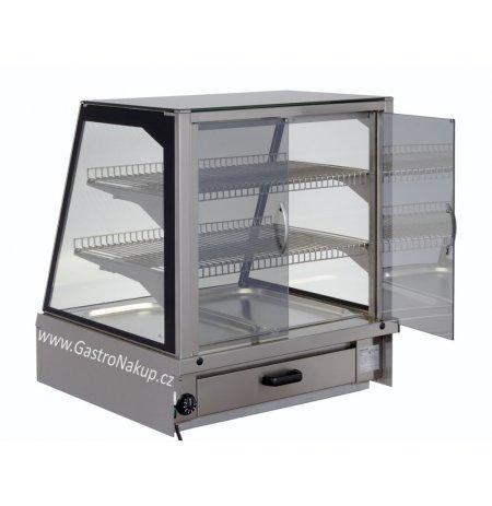 Vitrína teplá Adda HOT 2x GN1/1, obslužná, stolní, zápustná