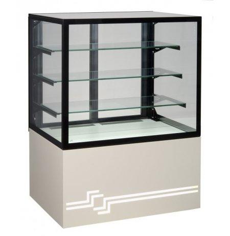 Vitrína chladící obslužná Cube II, ventilační, 100 cm, cukrářská