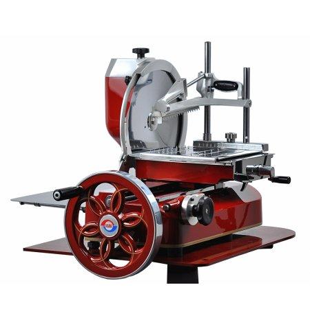 Nářezový stroj mechanický Retro Flywheel 330/83 červený, krájení Prosciutto
