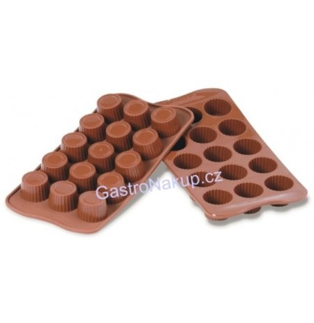 Forma na čokoládu silikonová EasyChoc 15x Pralinky