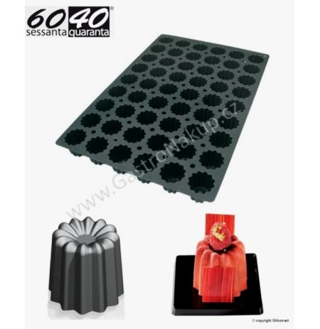 Forma silikonová 60x40 skupinová 54x Canneles