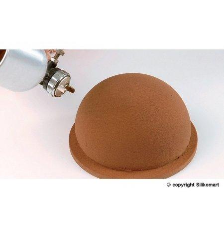 Forma TortaFlex ZUC na 6ks dortů Polokoule 160x80mm, sada vč.plata 60x40cm