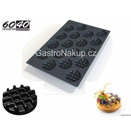 Forma silikonová 60x40 skupinová 18x Vafle kulaté