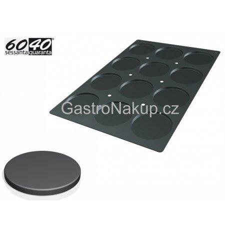 Forma silikonová 60x40 skupinová 12x Disco, 120x10