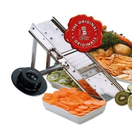 Kráječ zeleniny Mandolína nerez, profi, sklopný podstavec,2+4,5mm