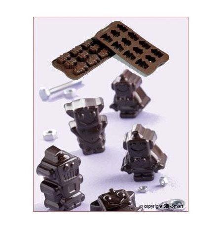 Forma na čokoládu silikonová EasyChoc 12x Roboti