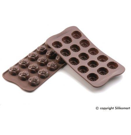 Forma na čokoládu silikonová EasyChoc 15x Růže