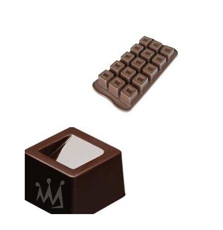 Forma na čokoládu silikonová EasyChoc 15x Cube