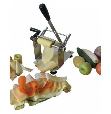 Rotační kráječ plátů zeleniny do šíře 11cm s přítlakem, nerez