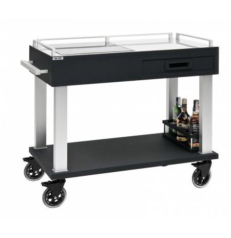 Flambovací servírovací vozík Tactus s indukčním vařičem, černý