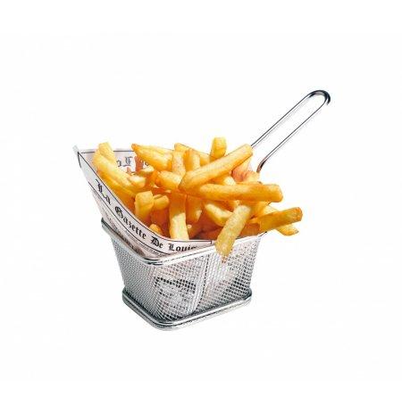 Koš servírovací na frity 2 porce, nerez