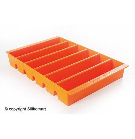 Plato prezentační na nanuky ESPOGEL DOWN Oranžové, kapacita 24 ks