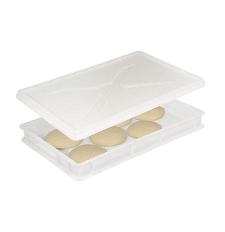 Víko přepravky na pizza těsto 60x40, plné bílé