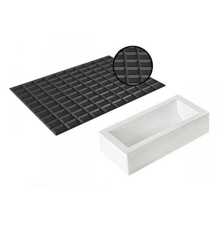 Forma silikonová na výrobu tunelu s ozdobnou texturou Tablette 1300, sada 2 ks