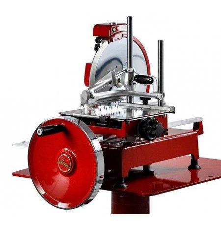 Nářezový stroj mechanický Retro 300EVO červený, krájení Prosciutto