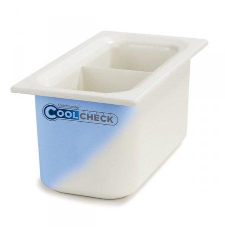 Nádoba nachlazovací CoolCheck GN1/3, bílá dělená s indikací nachlazení