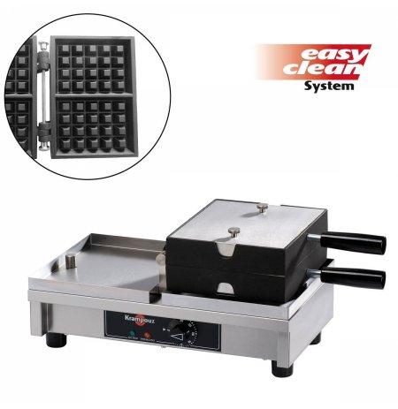 Vaflovač elektrický KRAMPOUZ, Lutych 4x5, sklopný 180°, madlo I, EasyClean
