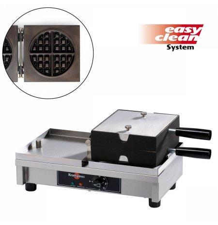 Vaflovač elektrický KRAMPOUZ, 4x8 Kulatá, sklopný 180°, madlo I, EasyClean