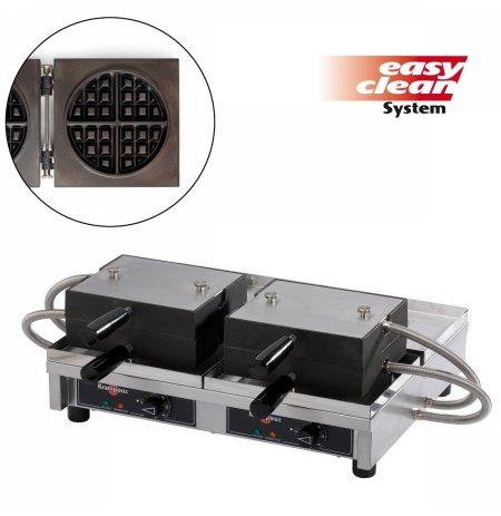 Vaflovač dvojitý elektrický Kulatá 4x8 Krampouz WECACB, sklopný 180°, madlo I, EasyClean
