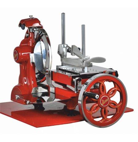 Nářezový stroj mechanický retro Flywheel CE 300/L červený, pro krájení Prosciutto Crudo