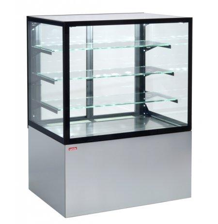 Vitrína chladící obslužná Cube II nerezová, ventilační, 150 cm, cukrářská
